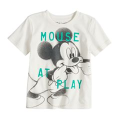 Disney's Mickey Mouse Baby Boy 'Mouse At Play' Softest Graphic Tee by Jumping Beans®