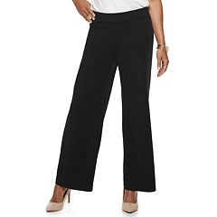 Petite Dana Buchman Travel Anywhere Jacquard Mid-Rise Pants