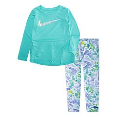 Toddler Girl Nike High-Low Hem Tunic & Watercolor Leggings Set