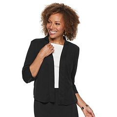 Petite Dana Buchman Travel Anywhere Open Front Jacquard Jacket