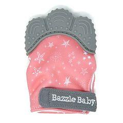 Bazzle Baby Chew Mitt Pink Stars Teething Mitten
