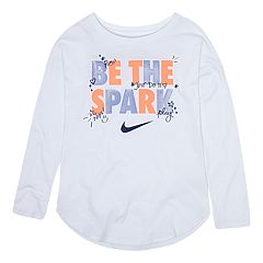 Toddler Girl Nike 'Be The Spark' Glittery Graphic Tee