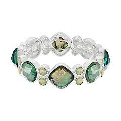 Dana Buchman Green Simulated Crystal Stretch Bracelet