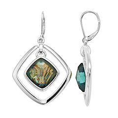 Dana Buchman Simulated Abalone Kite Drop Earrings