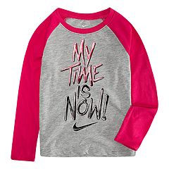Toddler Girl Nike 'My Time Is Now' Graphic Tee
