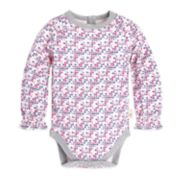 Baby Girl Burt's Bees Baby Organic Cross-Stitch Bodysuit