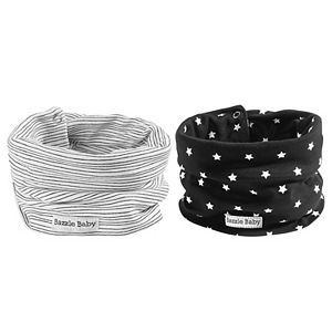 Bazzle Baby 2-pack Band O Bib Star & Lines Infinity Scarves