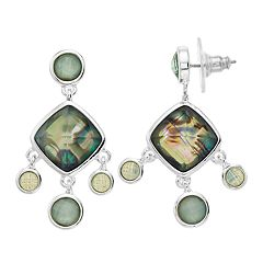 Napier Simulated Abalone Chandelier Drop Earrings