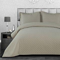 COSMOPOLITAN Linen Cotton 3-piece Quilt Set