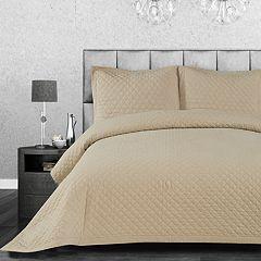 CosmoLiving by Cosmopolitan Linen Cotton 3-piece Quilt Set