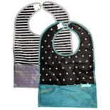 Bazzle Baby 2-pack Black & White Stars & Stripes GoBibs