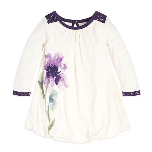 2049b032b Baby Girl Burt's Bees Baby Organic Watercolor Floral Bubble Dress