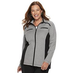 Plus Size Alfred Dunner Studio Colorblock Zip-Front Jacket