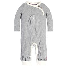 Baby Girl Burt's Bees Baby Organic Faux-Wrap Coverall