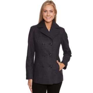 Women's Wildflower Double-Breasted Wool Blend Peacoat