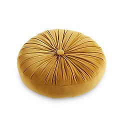 Tempo Home Buttercup Velvet Gusseted Round Throw Pillow