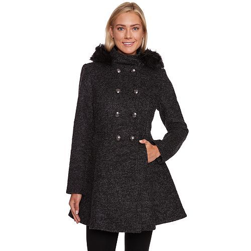 Women's Wildflower Boucle Fit & Flare Wool Blend Coat