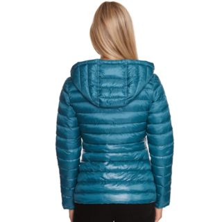 Women's Halitech Hooded Metallic Packable Puffer Jacket