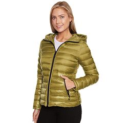 Women's Halitech Hooded Metallic Packable Puffer Jacket