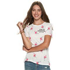 Juniors' Flamingo 'Take Me Somewhere Sunny' Tee