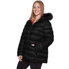 Plus Size Halitech Faux-Fur Hooded Packable Puffer Jacket