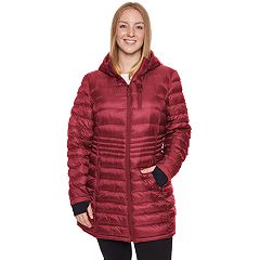 Plus Size Halitech Hooded Lightweight Packable Puffer Coat