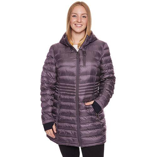 Plus Size Halitech Hooded Lightweight Packable Puffer Coat