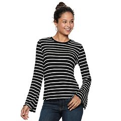 Juniors' Love, Fire Bell Sleeve Ringer Top