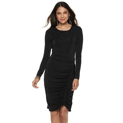 Women's Jennifer Lopez Ruched Sheath Dress