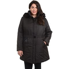 Plus Size Fleet Street Hooded Puffer Jacket
