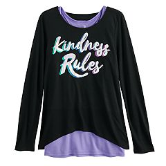 Girls 7-16 & Plus Size SO® Racerback Tank Top & Long Sleeve Tee Set