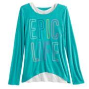 Girls 7-16 & Plus Size SO® Racerback Tank Top & Long Sleeve Tee Set
