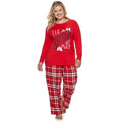 Plus Size SONOMA Goods for Life™ Ribbed Trim Pajama Tee
