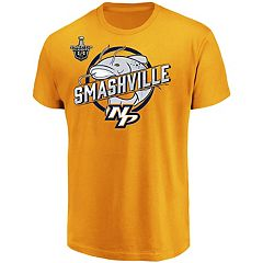 Men's Stanley Cup 2018 Playoffs Nashville Predators Catfish Smashville Tee
