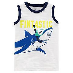 Toddler Boy Carter's 'Fintastic' Snorkeling Shark Tank Top