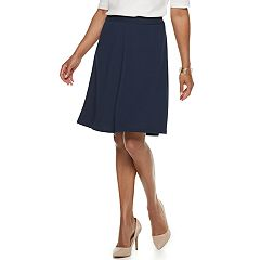 Petite Dana Buchman Knit Jacquard Pull-On Mid-Rise Skirt