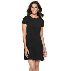 Petite Dana Buchman Travel Anywhere Solid Fit & Flare Dress