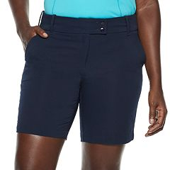 Women's Grand Slam Seersucker Midrise Golf Short