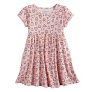 Toddler Girl Jumping Beans® Roll Cuff Patterned Dress