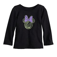 Disney's Minnie Mouse Glow-in-the-Dark Baby Girl Spider-Web Graphic Tee by Jumping Beans®