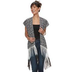 Women's Fringed Tribal Print Kimono