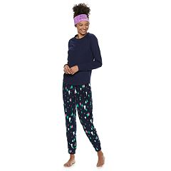 Juniors' SO® Tee, Velour Jogger & Headband Set