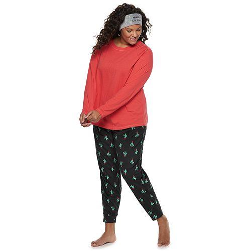 Plus Size SO® Tee, Jogger & Headband Set