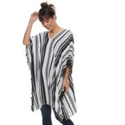Women's Striped Zig Zag Poncho