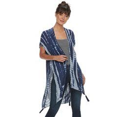 Women's Tie Dyed Kimono with Tassels