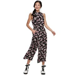 Juniors' Speechless Printed Halter Jumpsuit