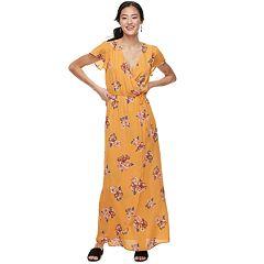 Juniors' Trixxi Flutter Sleeve Floral Maxi Dress