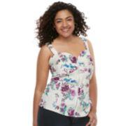 Juniors' Plus Size Liberty Love Floral Bustier Top