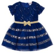 Girls 4-6x Little Lass Sequined Lace Tulle Dress