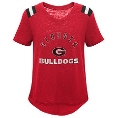 Girls 7-16 Georgia Bulldogs Retro Block Slubbed Vintage Tee